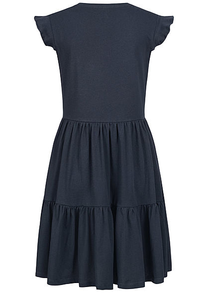 ONLY Damen NOOS V-Neck Mini Stufenkleid night sky navy blau