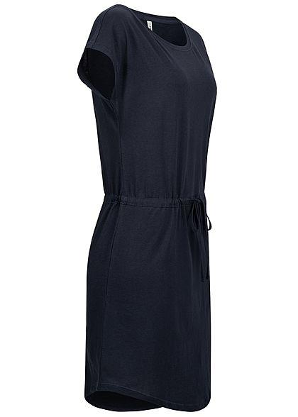 ONLY Damen NOOS T-Shirt Mini Kleid Tunnelzug night sky navy blau