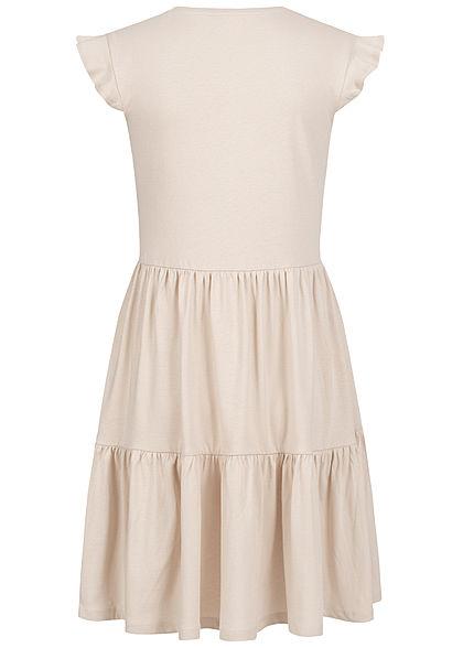 ONLY Damen NOOS V-Neck Mini Stufenkleid pumice stone beige