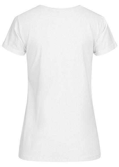 Fresh Tee Damen T-Shirt Print The Hunt weiss
