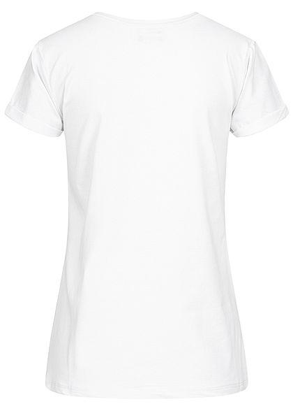 Fresh Tee Damen T-Shirt Print Bandana Hase weiss