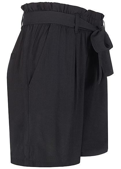 Eight2Nine Damen Paperbag Shorts inkl. Bindegürtel 2-Pockets schwarz