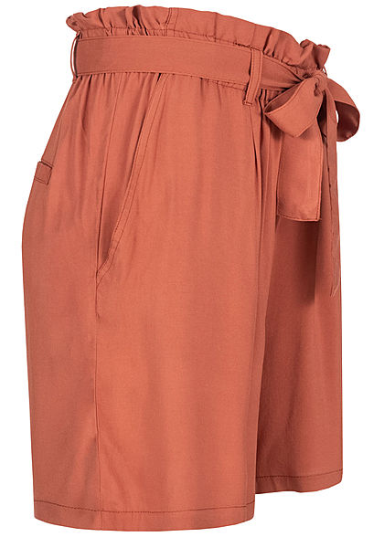 Eight2Nine Damen Paperbag Shorts inkl. Bindegürtel 2-Pockets terracotta rot