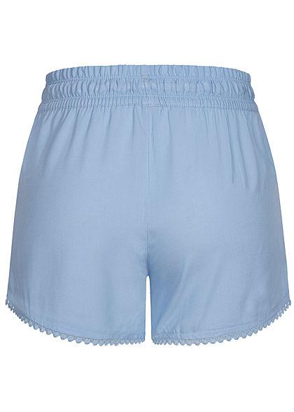 Fresh Made Damen Viskose Shorts 2-Pockets Tunnelzug placid blau