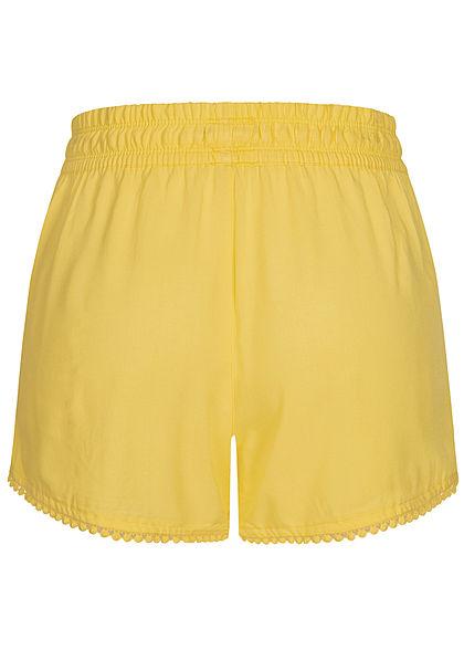 Fresh Made Damen Viskose Shorts 2-Pockets Tunnelzug citrus hell gelb