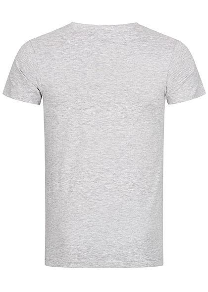 Tom Tailor Herren T-Shirt Logo Print stone hell grau