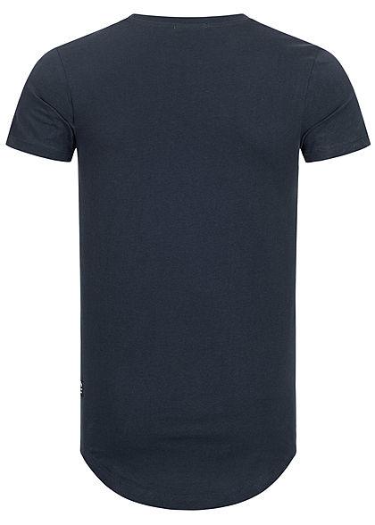 Tom Tailor Herren Basic T-Shirt sky captain navy blau
