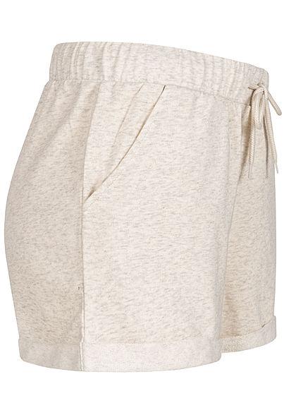 ONLY Damen Sweat Shorts Tunnelzug 2-Pockets oatmeal beige