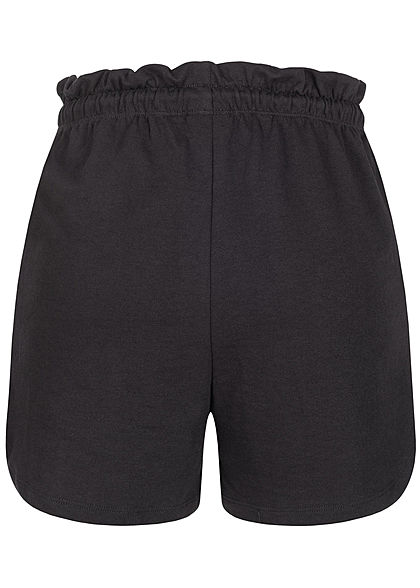ONLY Damen Paperbag Shorts Tunnelzug 2-Pockets schwarz