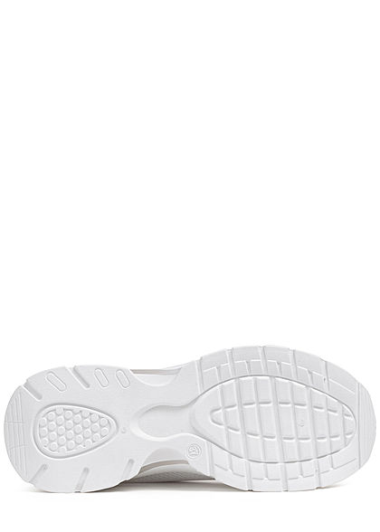 Seventyseven Lifestyle Damen Schuh Running Mesh Sneaker zum schnüren weiss