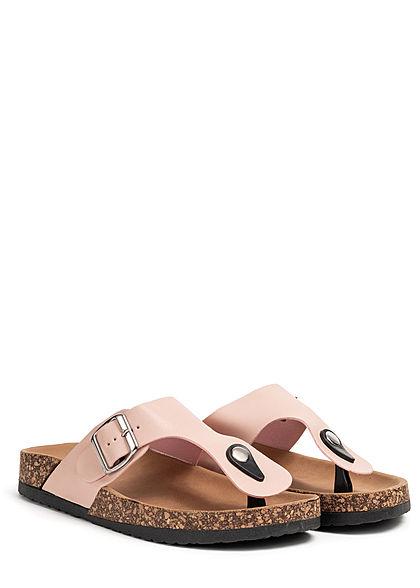 Seventyseven Lifestyle Damen Schuh Kunstleder Zehensteg Sandale rosa pink