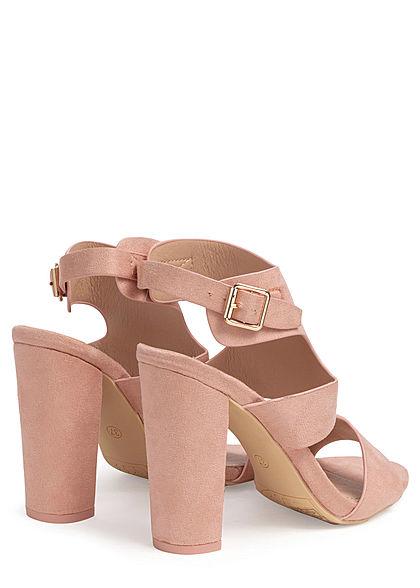 Seventyseven Lifestyle Damen Schuh Kunstleder Sandalette Absatz 11cm nude rosa