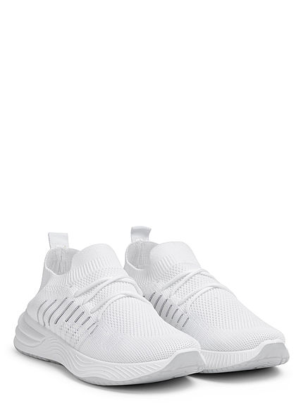 Seventyseven Lifestyle Damen Schuh Running Mesh Sneaker weiss grau