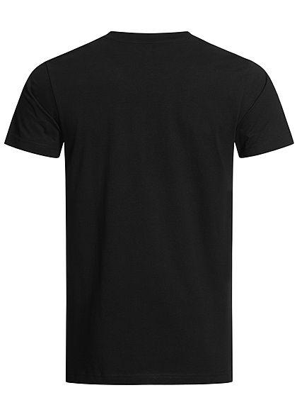 Mister Tee Herren T-Shirt Los Angeles Print schwarz