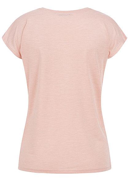 Hailys Damen Casual T-Shirt Paradise Dream Love Print Pailletten rose gold