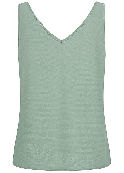Vero Moda Damen V-Neck Tank Top Knopfleiste jadeite grün