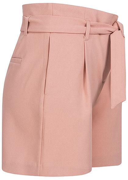 ONLY Damen High-Waist Shorts inkl. Bindegürtel 2-Pockets misty rose