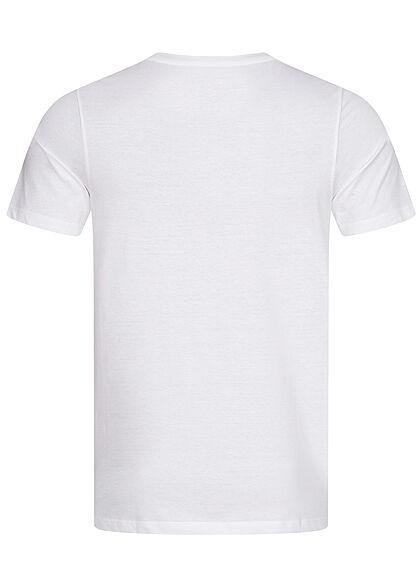 Jack and Jones Herren T-Shirt Logo Print weiss gelb