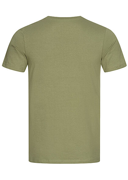Jack and Jones Herren T-Shirt Logo Print oil grün