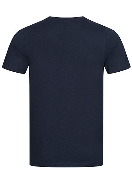 Jack and Jones Herren T-Shirt Logo Print navy blazer blau