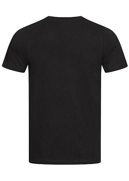 Jack and Jones Herren T-Shirt Logo Print schwarz