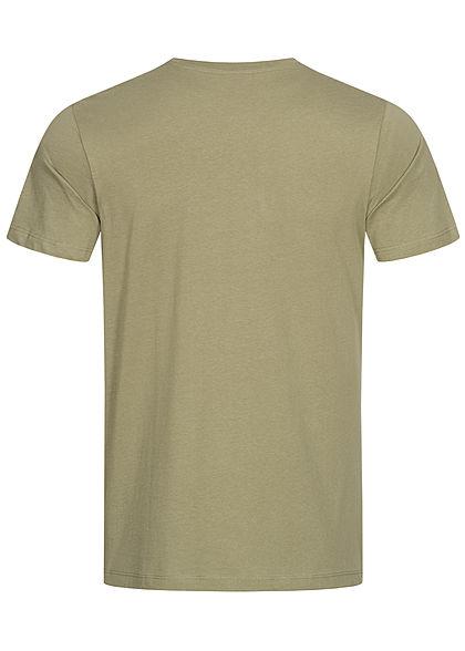 Jack and Jones Herren T-Shirt Logo Print oil grün