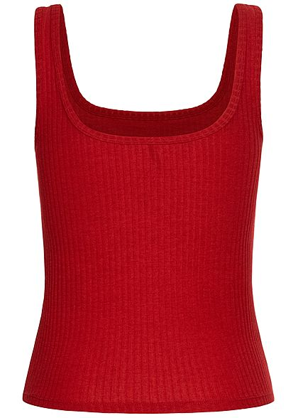ONLY Damen Ribbed Tank Top high risk rot