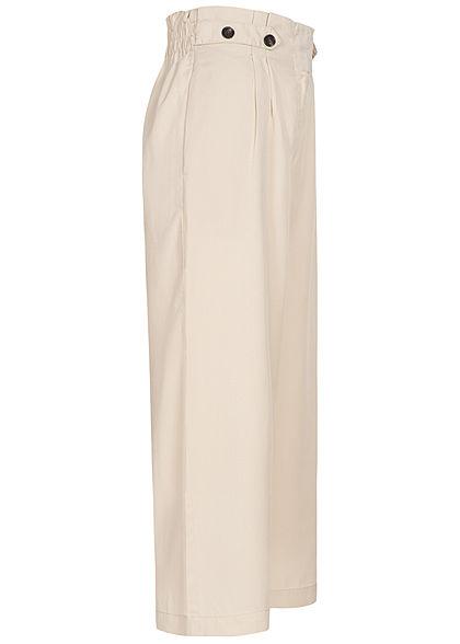 ONLY Damen 3/4 Paperbag Culotte Hose Gummibund 2-Pockets pumice stone beige