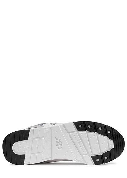 Jack and Jones Herren Schuh Materialmix Sneaker zum schnüren weiss grau schwarz