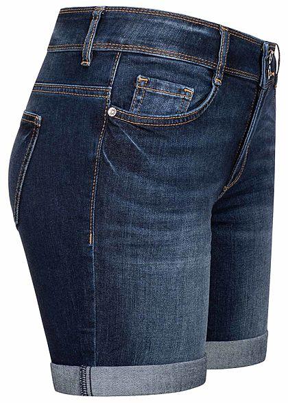 Tom Tailor Damen Bermuda Jeans Shorts 5-Pockets dark stone dunkel blau denim
