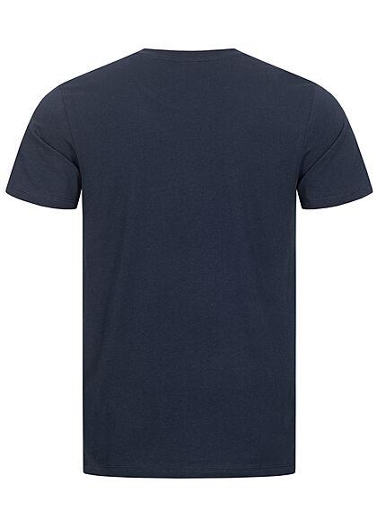Jack and Jones Herren T-Shirt Logo Schriftzug Regular Fit blazer navy blau