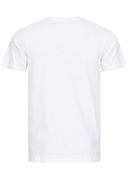 Jack and Jones Herren T-Shirt Logo Schriftzug Regular Fit weiss schwarz