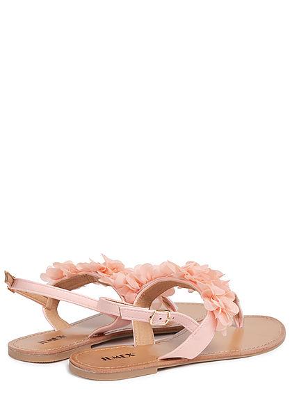 Seventyseven Lifestyle Damen Schuh Sandale Zehensteg Deko Applikation pink