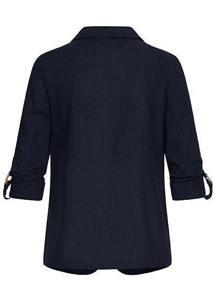 Vero Moda Damen 3/4-Arm Turn-Up Blazer offener Schnitt navy blazer blau