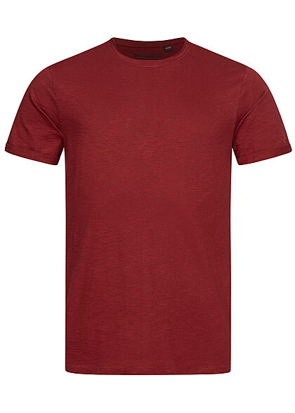 Eight2Nine Herren Basic T-Shirt dried tomato rot