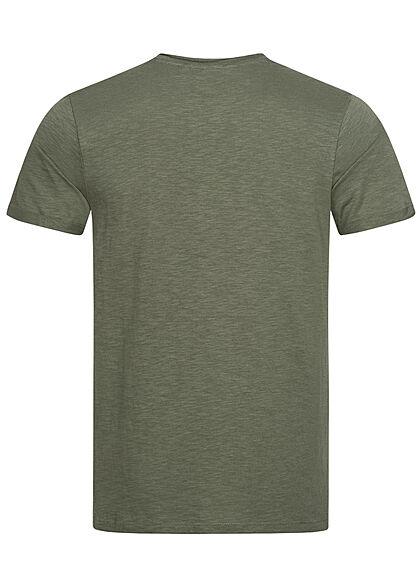 Eight2Nine Herren Basic T-Shirt nature grün