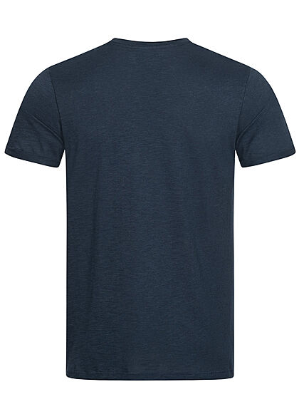 Eight2Nine Herren Basic T-Shirt stormy navy blau