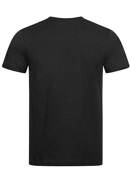 Eight2Nine Herren Basic T-Shirt schwarz