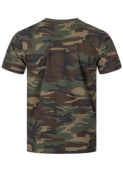 Brandit Herren Basic T-Shirt woodland camouflage