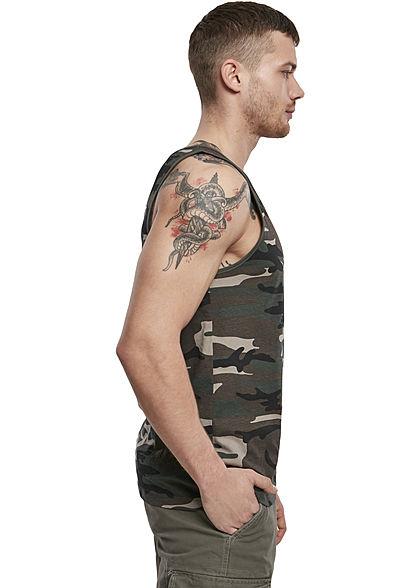 Brandit Herren Basic Tank Top woodland camouflage