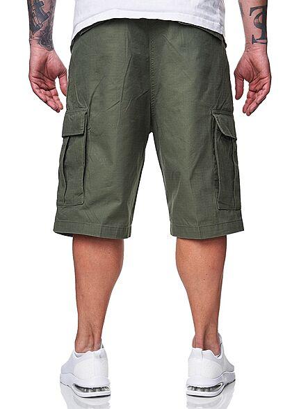 Brandit Herren Cargo Shorts RipStop Material 6-Pockets oliv grün