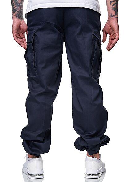 Brandit Herren Cargo Hose 6-Pockets Tunnelzug unten navy blau
