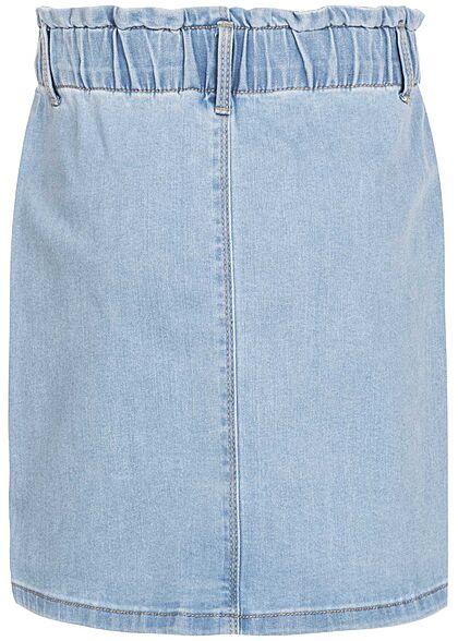 Name It Kids Mädchen High Waist Mini Jeans Rock Knopfleiste hell blau denim