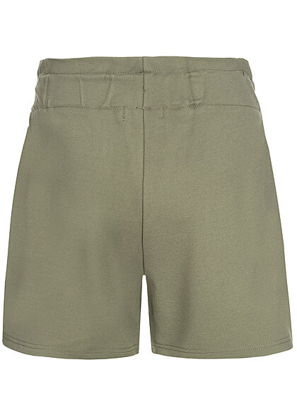 Name It Kids Mädchen kurze Shorts Gummibund Bindedetail deep lichen grün
