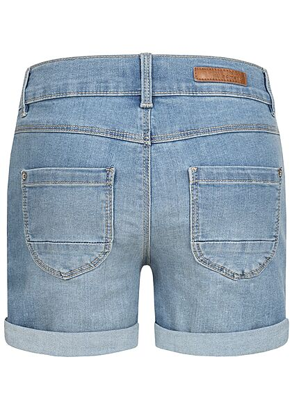 Name It Kids Mädchen NOOS kurze Jeans Shorts 5-Pockets medium blau denim