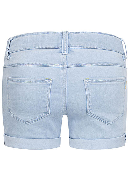 Name It Kids Mädchen kurze Jeans Shorts 5-Pockets hell blau denim
