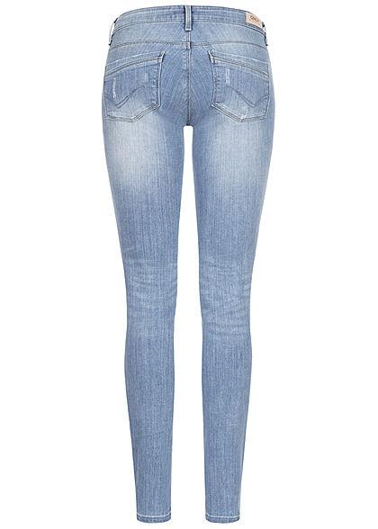 ONLY Damen NOOS Skinny Jeans Hose 5-Pockets Super Low Waist hellblau denim