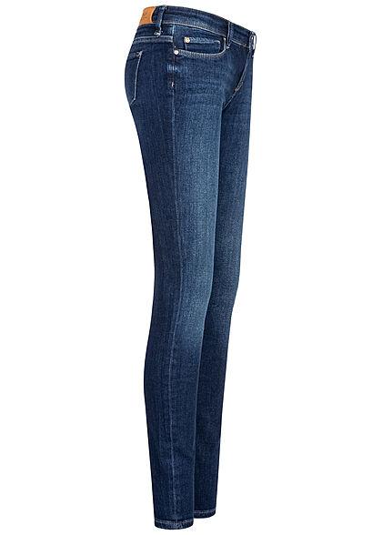 ONLY Damen NOOS Skinny Jeans Hose 5-Pockets Super Low Waist dunkel blau denim