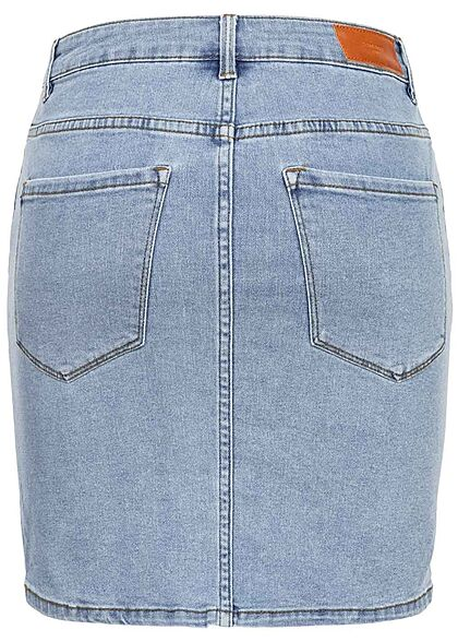 Vero Moda Damen NOOS Basic Mini Jeans Rock 5-Pockets hellblau denim