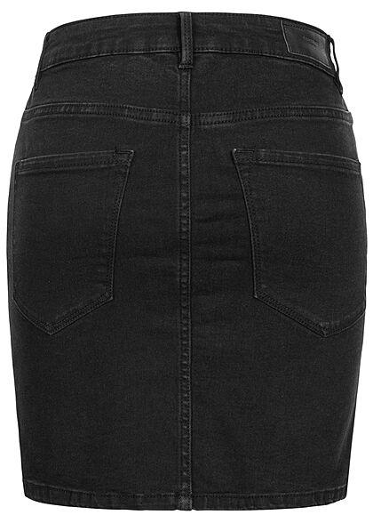 Vero Moda Damen NOOS Basic Mini Jeans Rock 5-Pockets schwarz denim